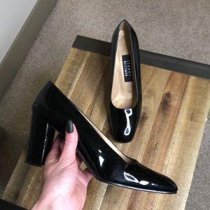 """Stuart Weitzman Black Patent Heels 7.5"""" AA"""
